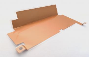銅箔の打ち抜き加工・ラミネート(パウチ)・曲げ加工