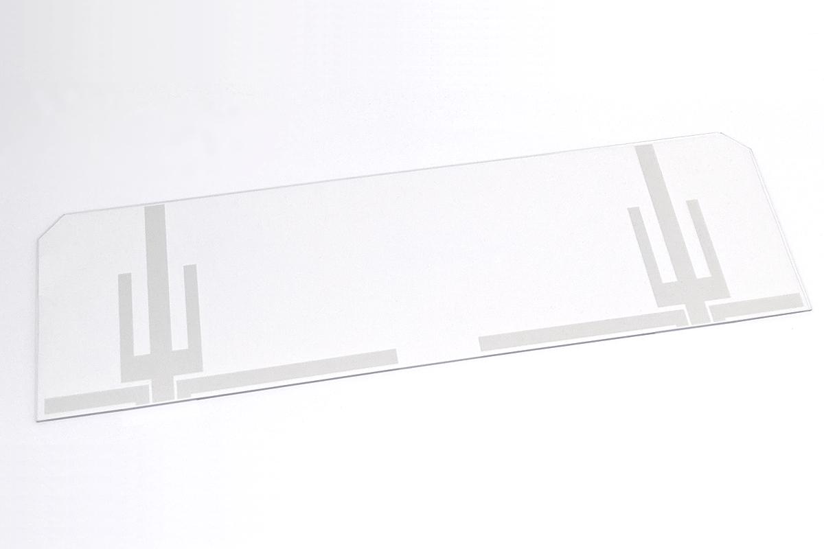 透明フィルムアンテナのアセンブリ加工